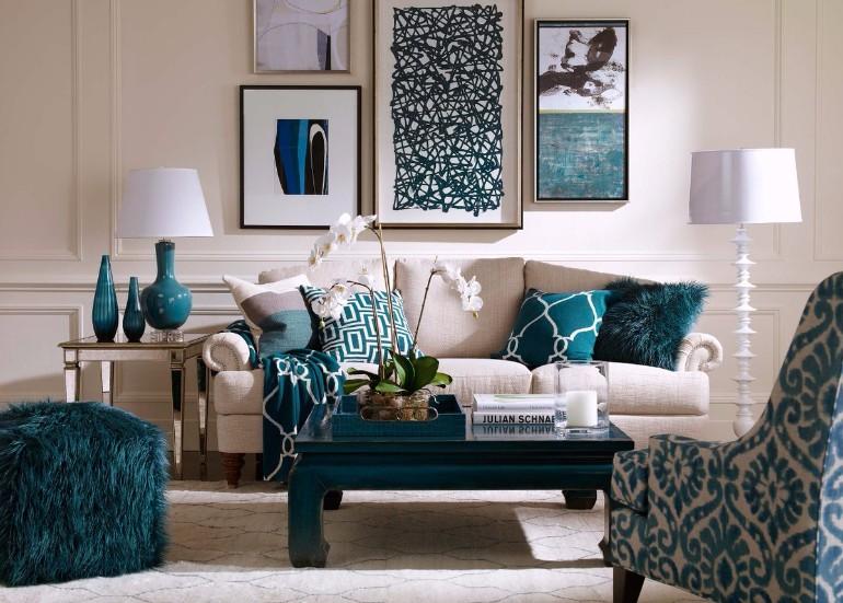 Scrumptious Turquoise Living Room Ideas