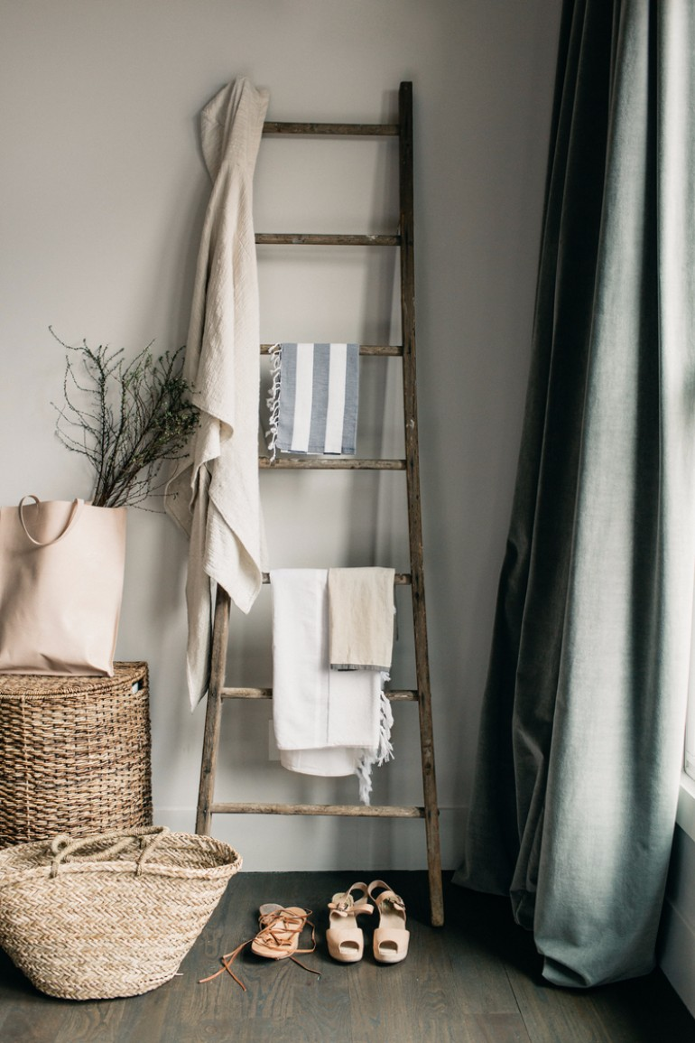 Ways To Style A Ladder Blanket Rack In Your Living Room living room 8 Ways To Style A Ladder Blanket Rack In Your Living Room Ways To Style A Ladder Blanket Rack In Your Living Room 2