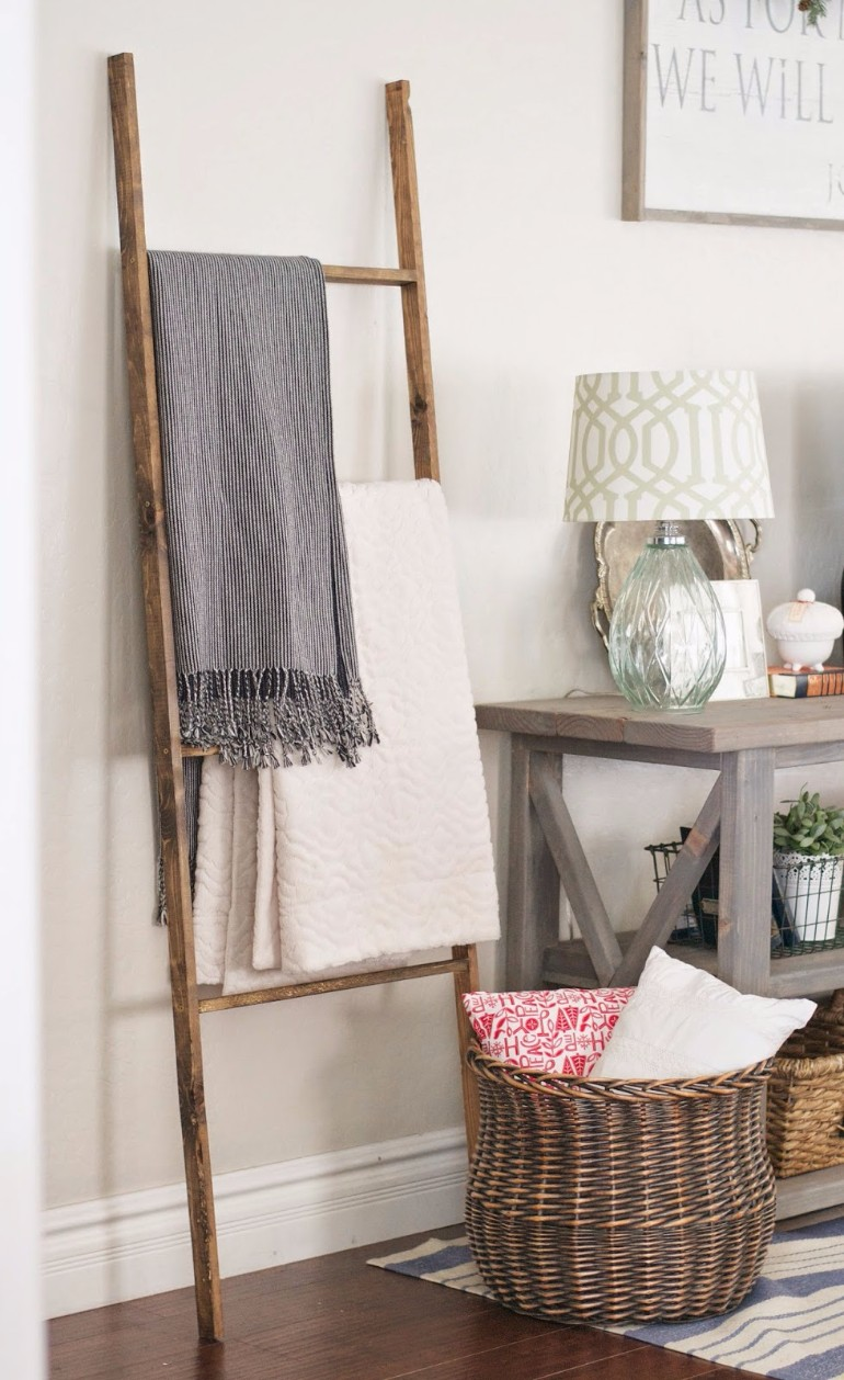 Ways To Style A Ladder Blanket Rack In Your Living Room living room 8 Ways To Style A Ladder Blanket Rack In Your Living Room Ways To Style A Ladder Blanket Rack In Your Living Room