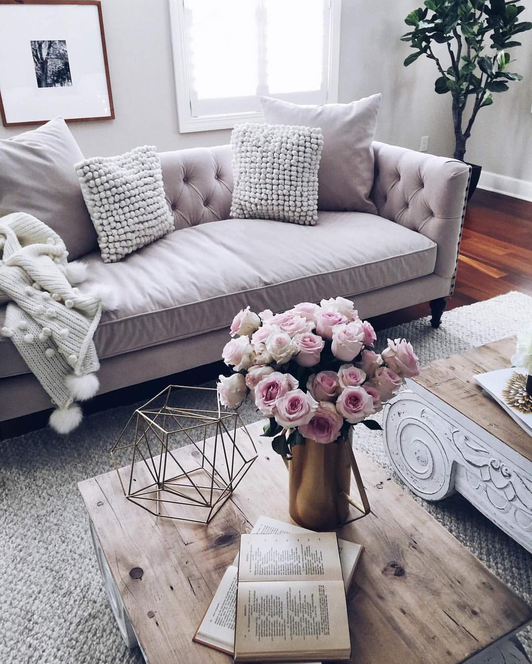 Home Decor Inspiration Sur Instagram Black And White: Romantic Living Rooms Ideas