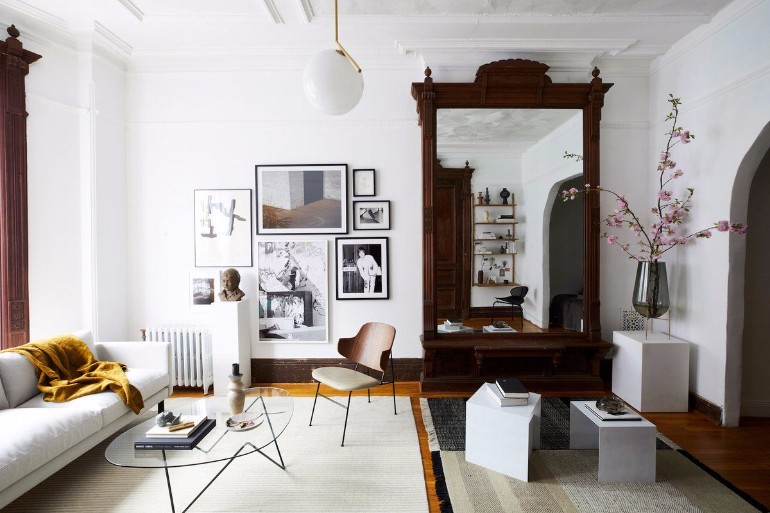 Living Room Inspiration: An Architectural Brooklyn Living Room  living room inspiration Living Room Inspiration: An Architectural Brooklyn Living Room An Architectural Brooklyn Living Room 1