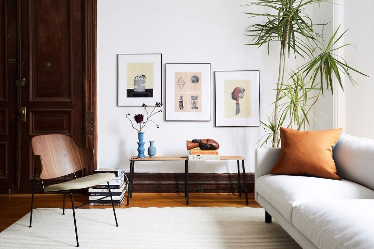 Living Room Inspiration: An Architectural Brooklyn Living Room  living room inspiration Living Room Inspiration: An Architectural Brooklyn Living Room An Architectural Brooklyn Living Room 4