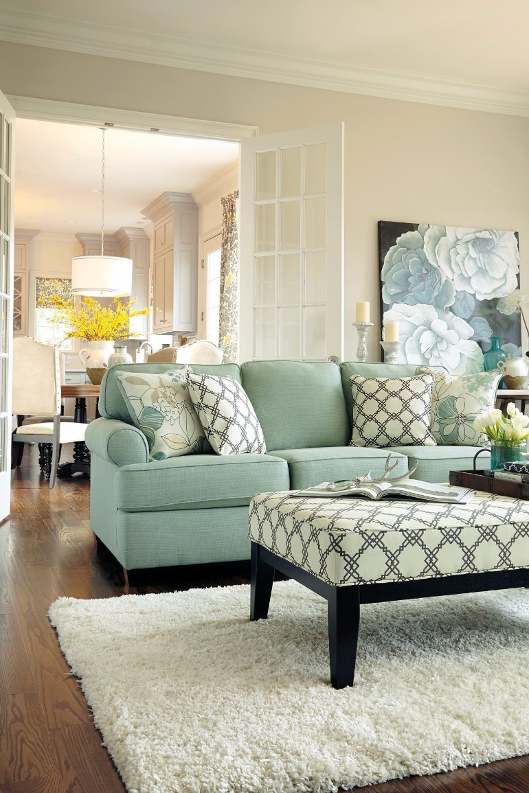 Light Blue And Green Living Room how to make a light blue-green living room – living room ideas
