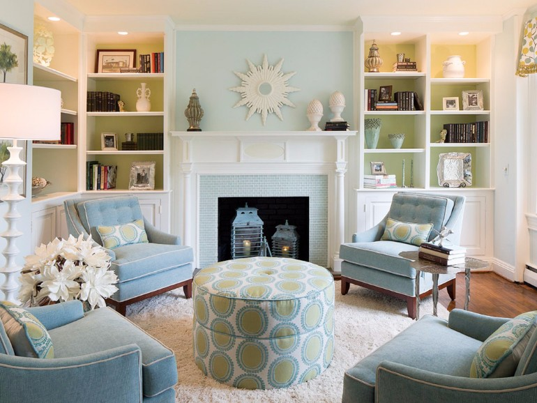 How To Make A Light Blue Green Living Room