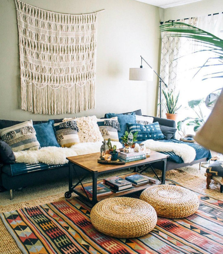 Living Room Design Inspiring Bohemian Living Room Design  3689d15f26d210eaf89c1482c1881a1c