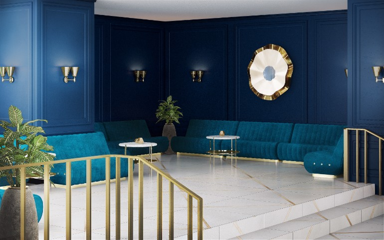 Modern Living Room With Navy Blue Walls modern living room Modern Living Room With Navy Blue Walls Modern Living Room With Navy Blue Walls 7