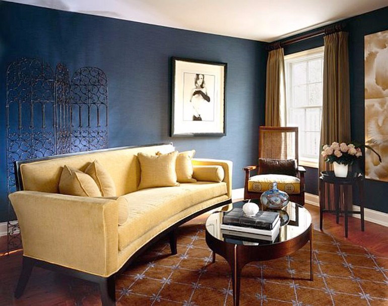 Modern Living Room With Navy Blue Walls modern living room Modern Living Room With Navy Blue Walls Modern Living Room With Navy Blue Walls