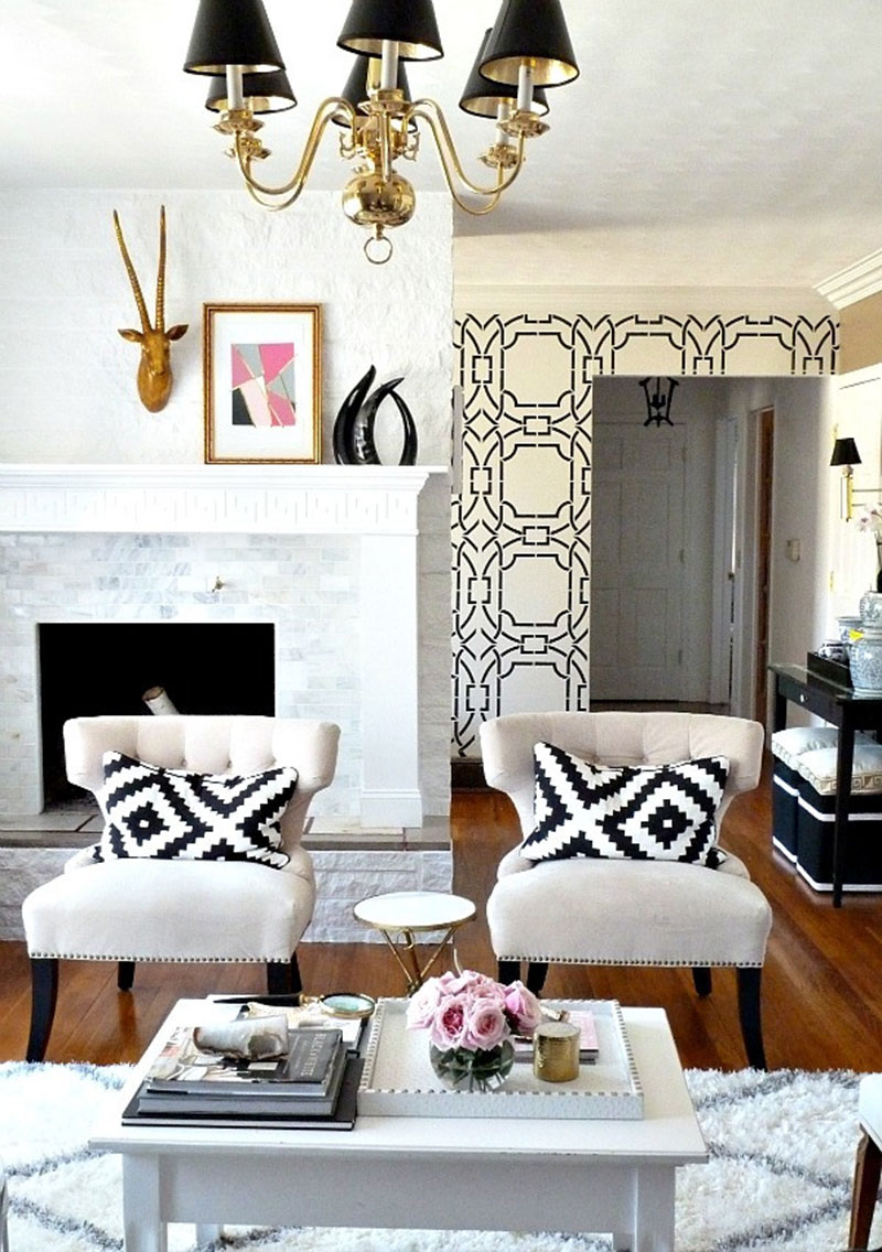 living room geometry Living Room Geometry As a Main Element The Everygirl How to Make Your Home Look Expensive on a Budget