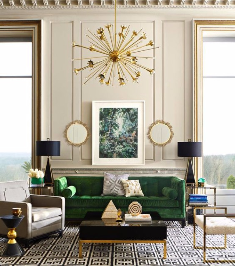 Top 5 art deco style living rooms to die for