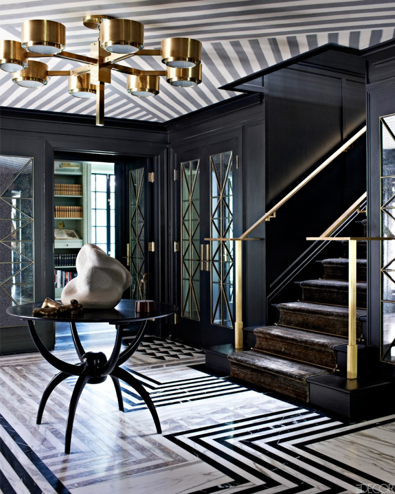 living room geometry Living Room Geometry As a Main Element black nuance of the hallway decor that has modern ceramics floor can be decor with black concrete wall can add the beauty inside the modern house design ideas that nice 780x975