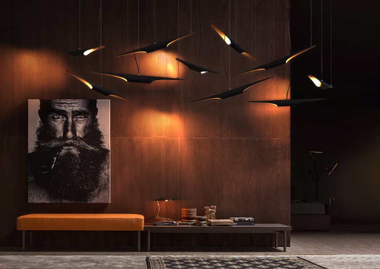 living room Unique Wood Home Decors For Your Living Room coltrane unique midcentury modern lamp suspension lamp 05