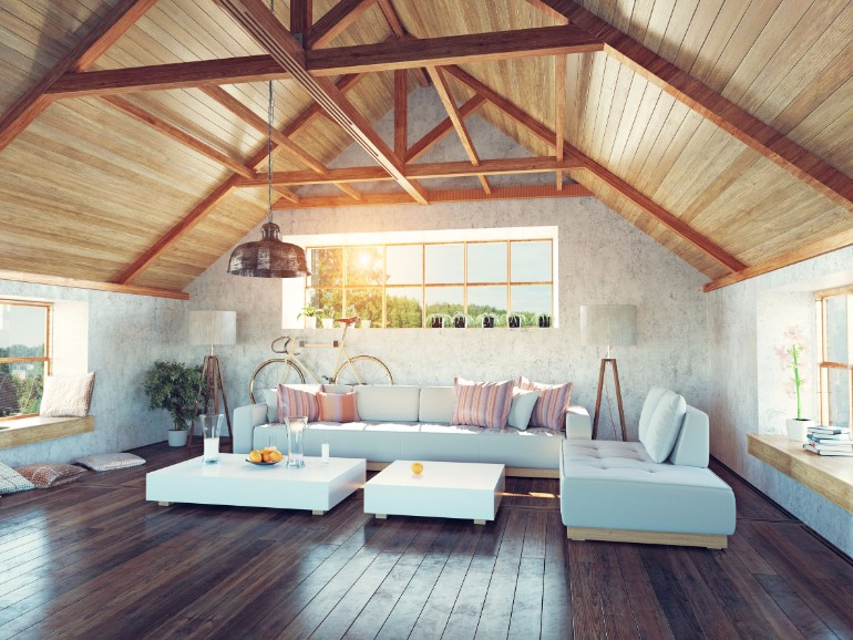 living room Exposed Beams for Your Living Room Decor file