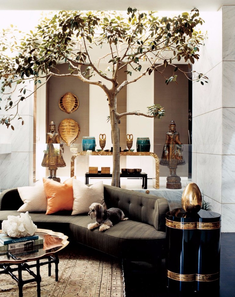 Indoor Trees Ideas For Your Living Room Decor living room decor Indoor Trees Ideas For Your Living Room Decor traditional living room kelly wearstler beverly hills california 200512 2 1000