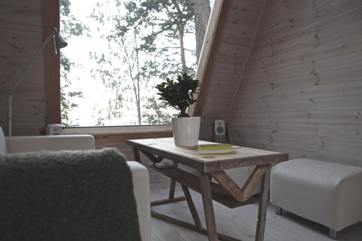 A Tiny House with a Minimalist Living Room in the Heart of Finland minimalist living room A Tiny House with a Minimalist Living Room in the Heart of Finland Nido A Tiny House that Makes the Best of Eco Design 3