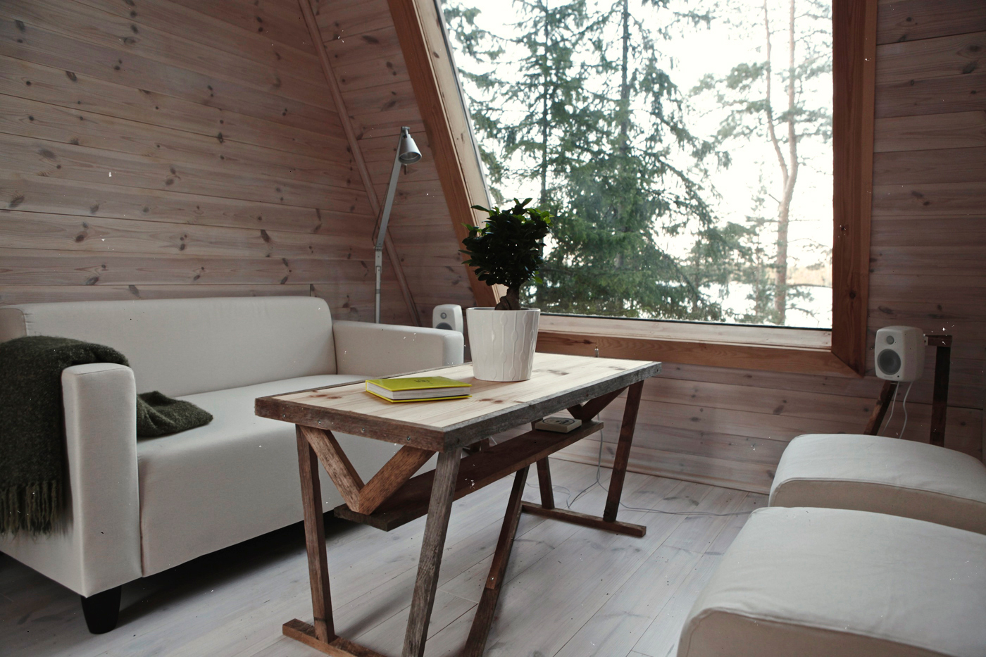 A Tiny House With A Minimalist Living Room In The Heart Of Finland