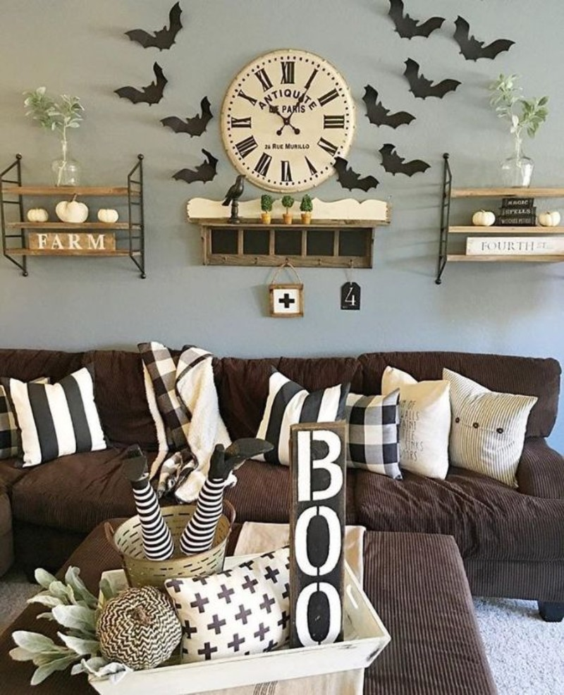 living room decor Let Halloween Take Over Your Living Room Decor With These Spooky Ideas! Let Halloween Take Over Your Living Room Decor With These Spooky Ideas 3