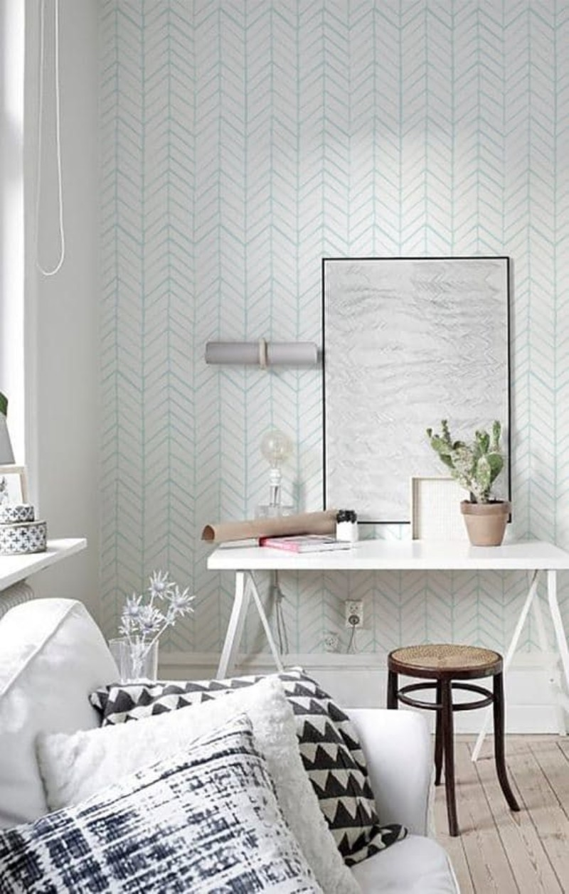 Living Room Corners Patterned Wallpapers You Will Fall In Love With