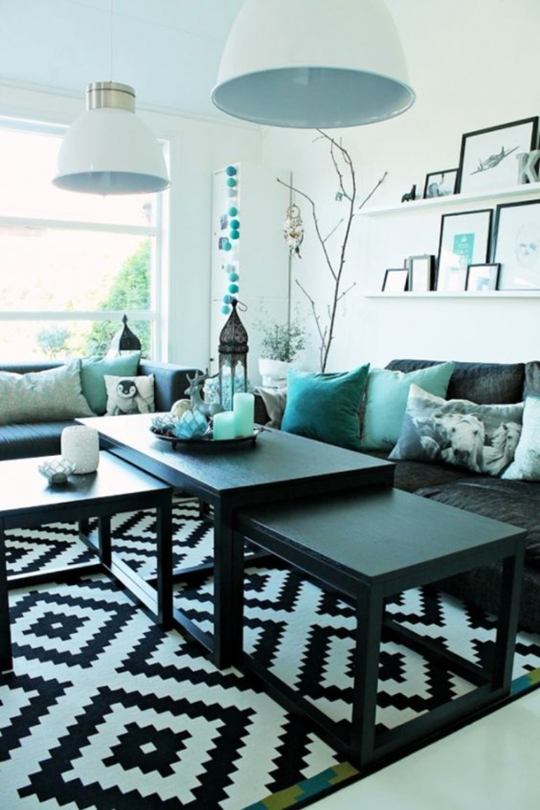 turquoise living room inspiration Turquoise Living Room Inspiration: The Best Color To Use This August Turquoise Living Room Inspiration1