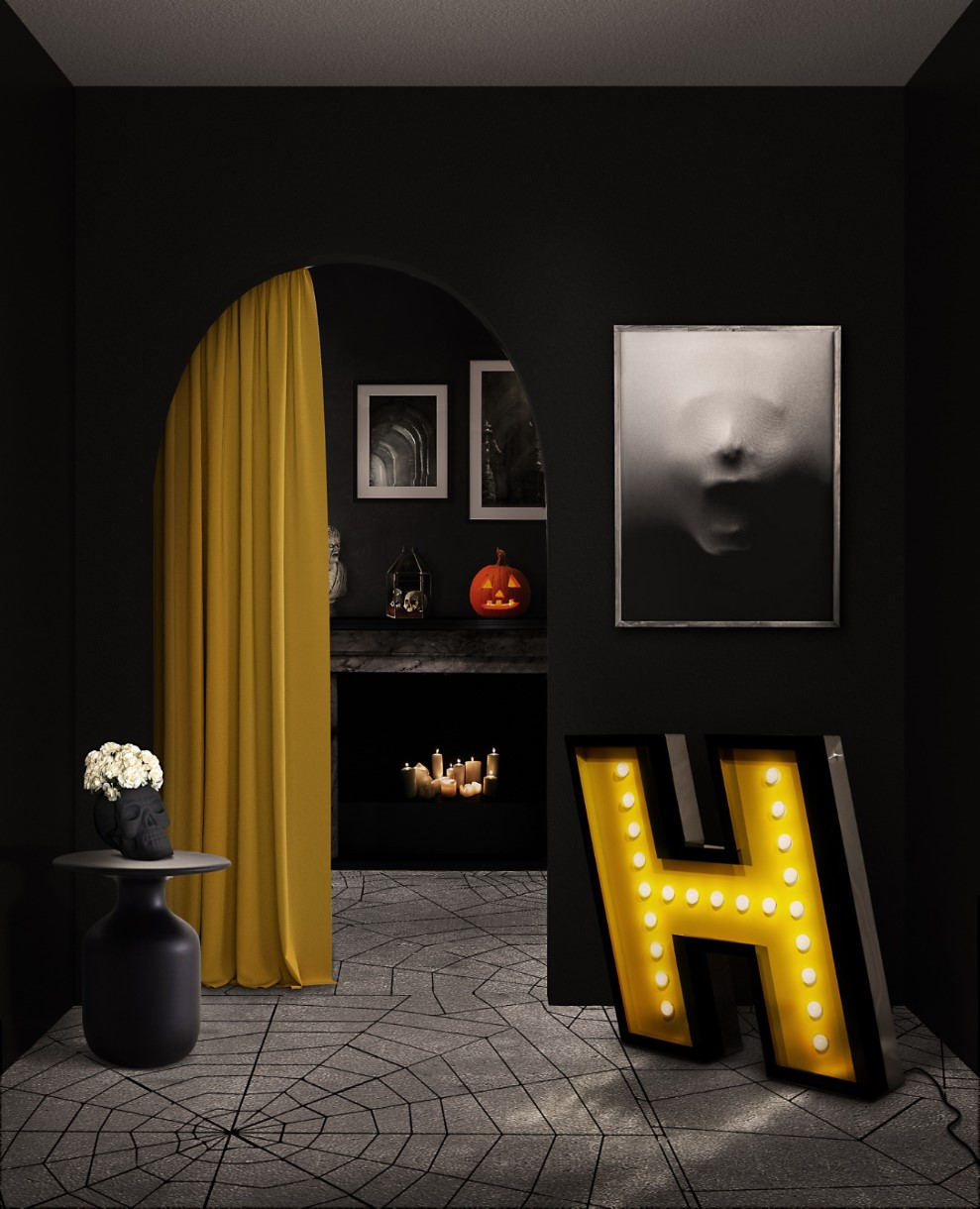 halloween Decorate Your Living Room With Halloween Décor Decorate Your Living Room With Halloween D  cor 4