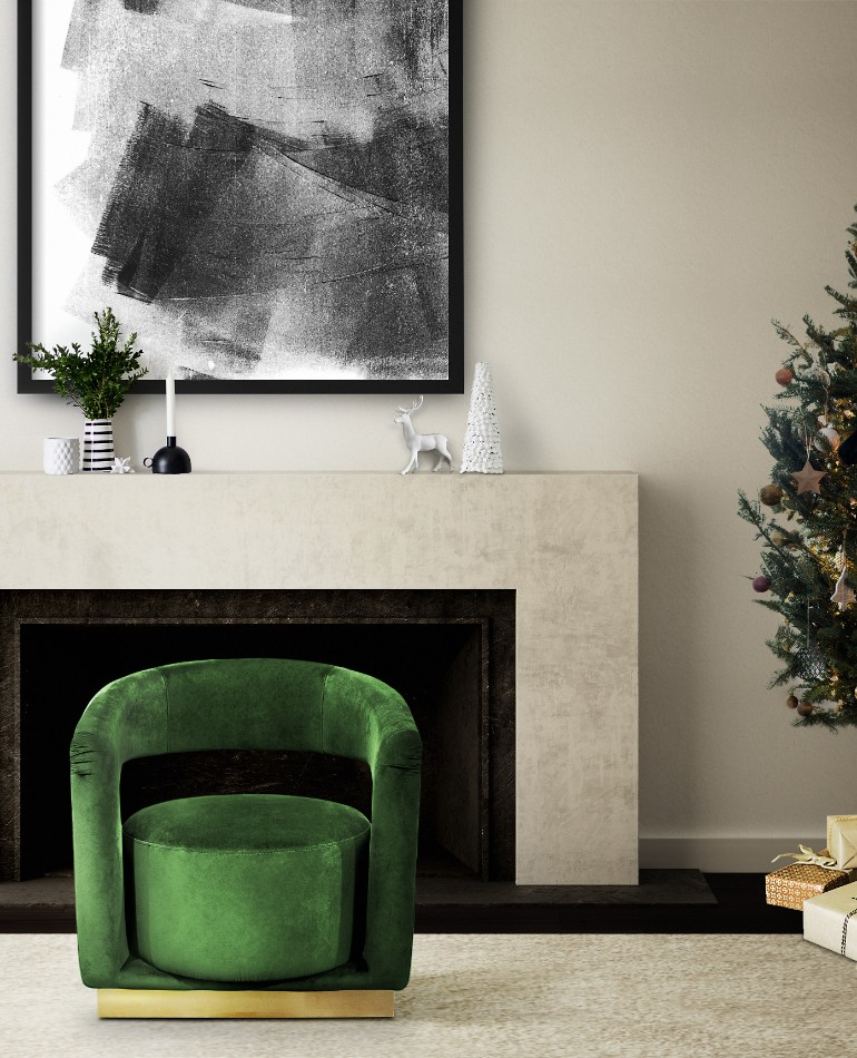mid-century christmas, living room inspiration, christmas home decor, holiday decorations, mid-century modern furniture mid-century christmas All The Best Mid-Century Christmas Inspiration In One Place! ambience 110 HR