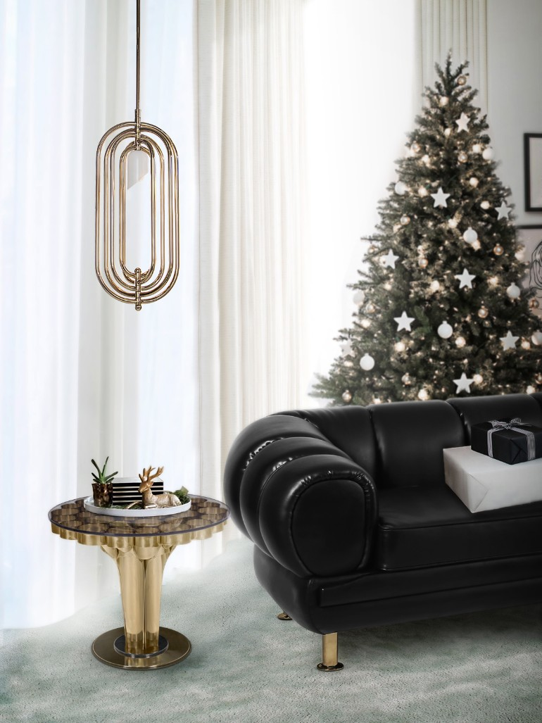 christmas living rooms, christmas living room ideas, living room inspiration, christmas home decor, holiday decorations, mid-century modern furniture christmas living rooms 5 Christmas Living Rooms We Are Simply Head Over Heels For ambience 127 HR 1 1