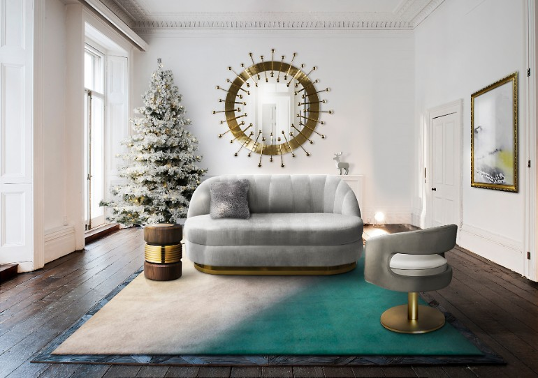 christmas living rooms, christmas living room ideas, living room inspiration, christmas home decor, holiday decorations, mid-century modern furniture christmas living rooms 5 Christmas Living Rooms We Are Simply Head Over Heels For ambience 134 HR 2 1