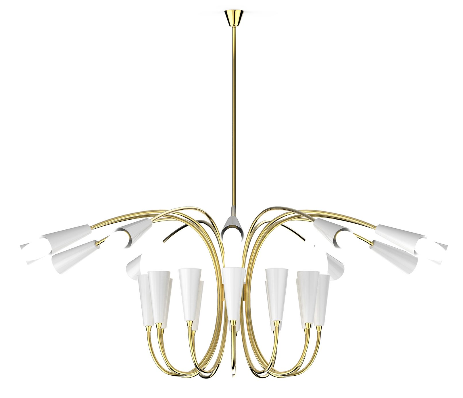 mid-century lighting mid-century lighting Christmas Décor With Mid-Century Lighting Pieces aretha chandelier detail 04 HR e1540224820886