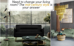Need to change your living room? The mid-century style is your answer