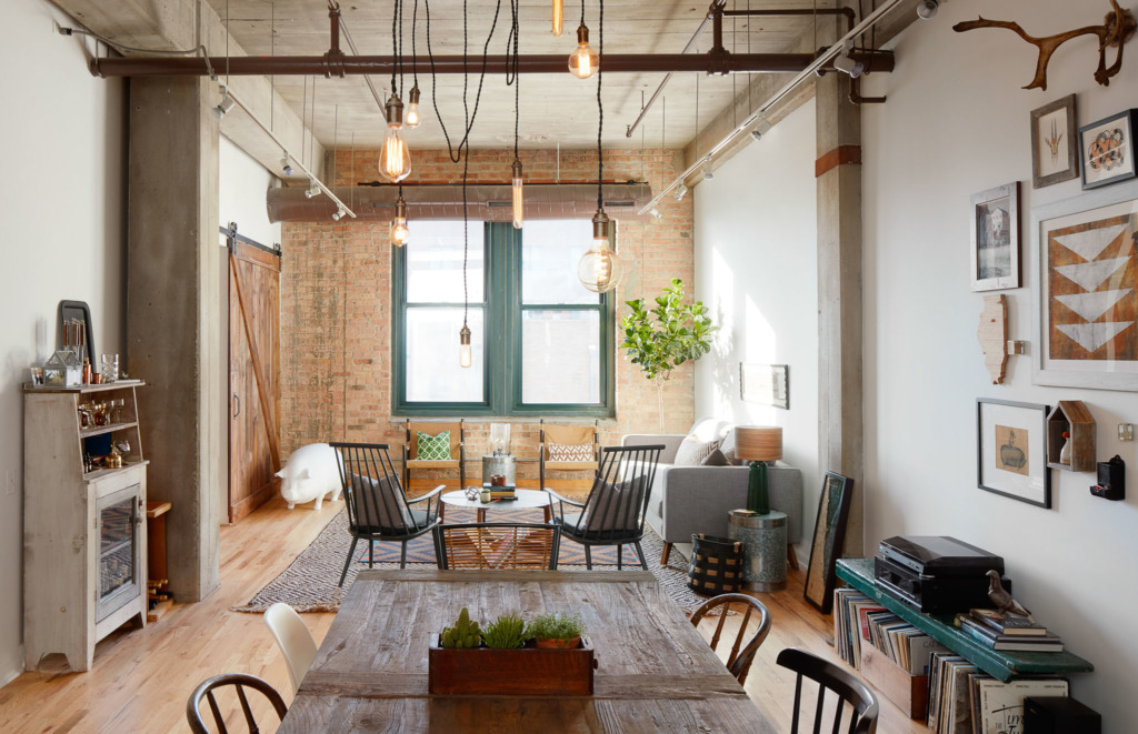 What S Hot On Pinterest Industrial Living Room