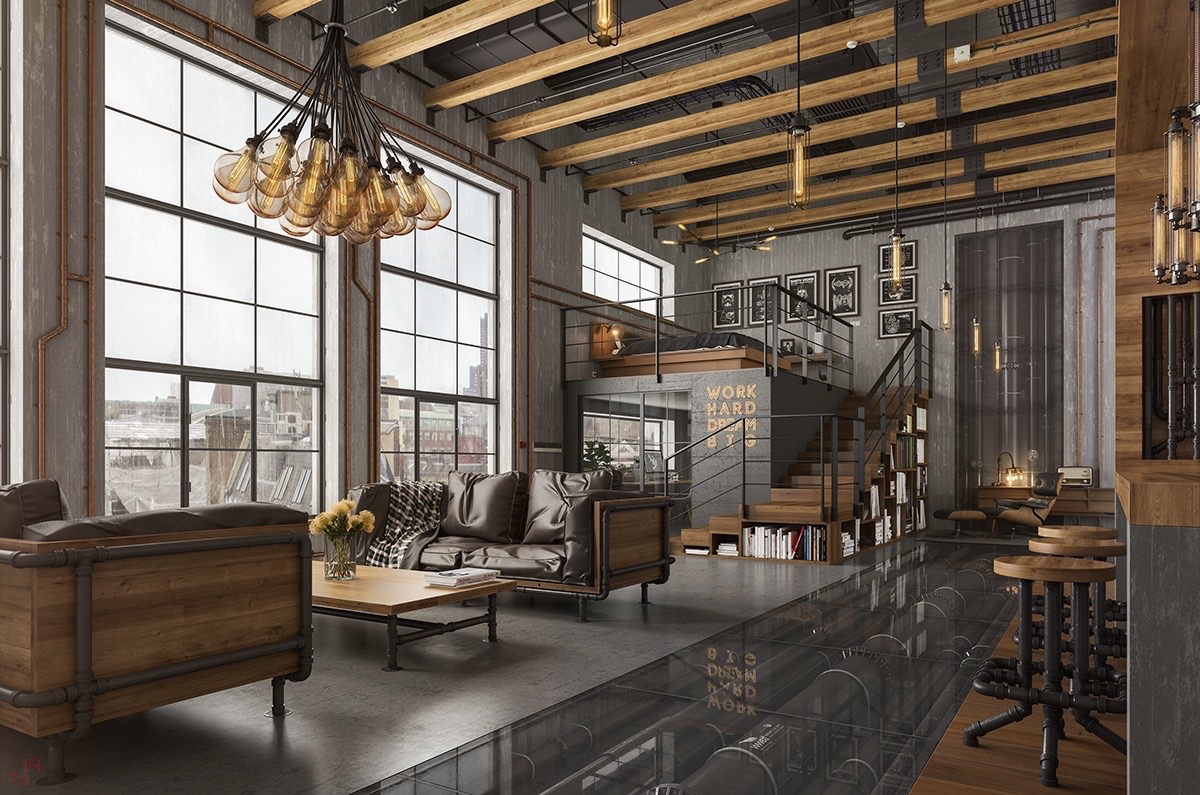 industrial living room What's Hot On Pinterest Industrial Living Room Whats Hot On Pinterest Industrial Living Room 3