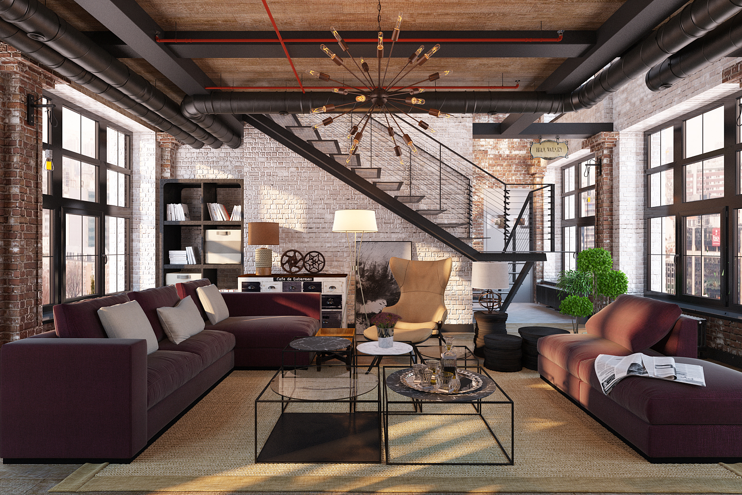 industrial living room What's Hot On Pinterest Industrial Living Room Whats Hot On Pinterest Industrial Living Room 4