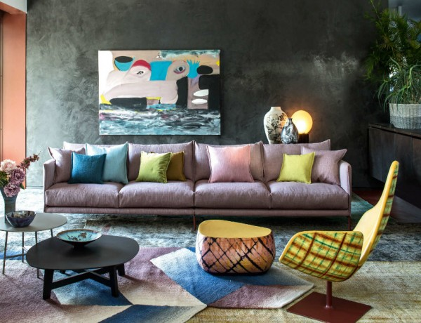 Living Room Living Room Ideas from iSaloni 2016: Moroso Featured Living Room Ideas from iSaloni 2016Moroso Furniture Shot Inside Patrizia Morosos House 1 600x460
