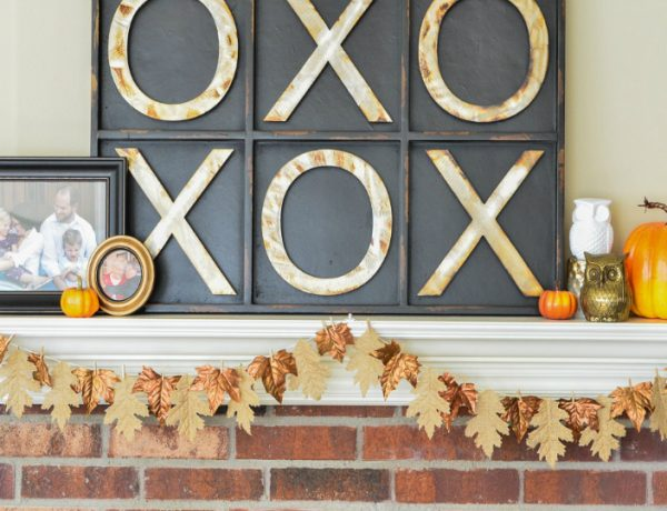 Welcome Fall into Your Living Room by Bringing the Outdoor In living room Welcome Fall into Your Living Room by Bringing the Outdoor In Burlap Bronze Fall Garland 12 feat 600x460