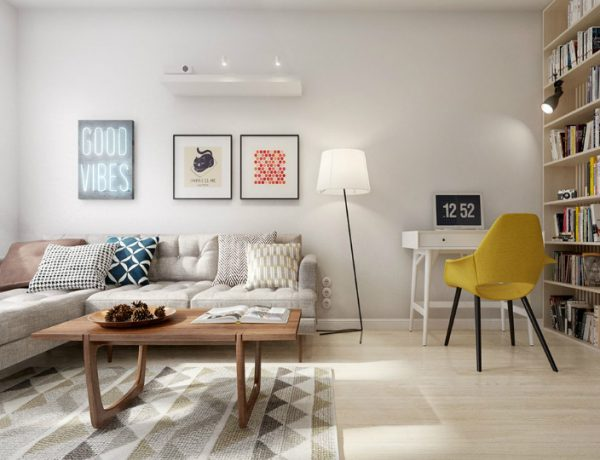 Living Room Inspiration: Mid-Century Apartment in St. Petersburg living room inspiration Living Room Inspiration: Mid-Century Apartment in St. Petersburg scandinavian living room feat 600x460