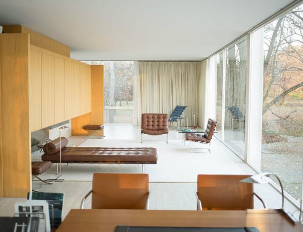 The Farnsworth House: A Modern Icon farnsworth house The Farnsworth House: A Modern Icon with a Minimalist Living Room 15 2 600x460