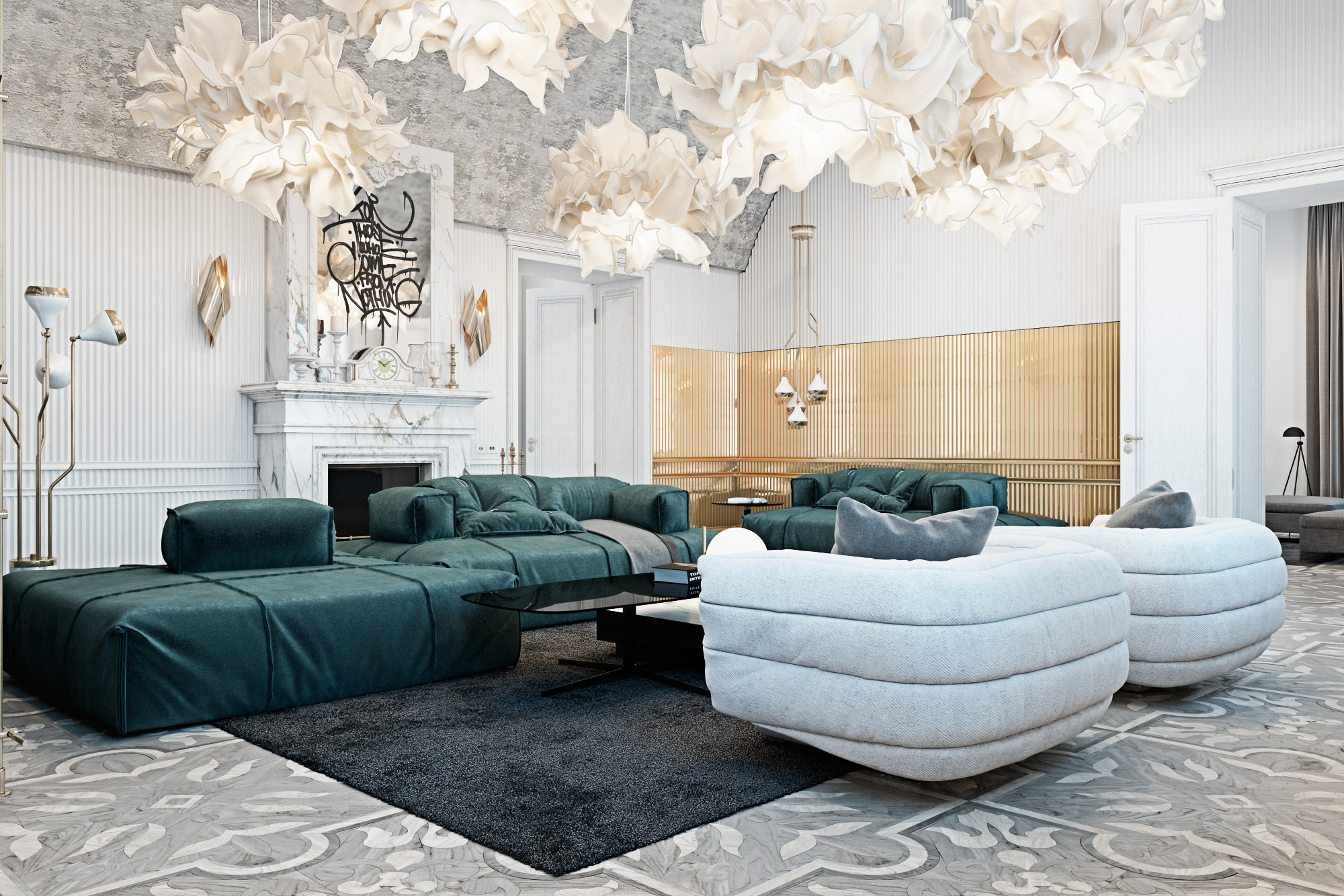 Luxury Living Room In Italian Contryside 1 Fall Love With This