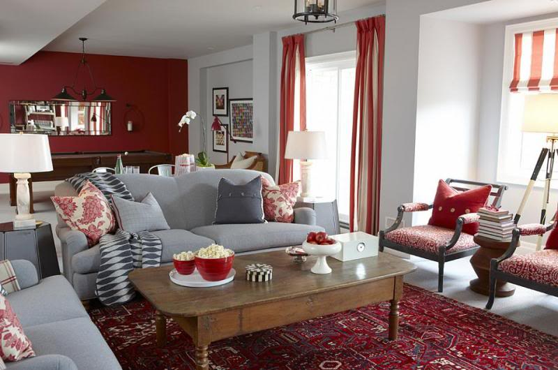 Red Accents For Living Room | Home design ideas