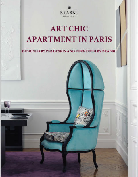 art chic apartment ART CHIC APARTMENT IN PARIS DESIGNED BY PFB DESIGN AND FURNISHED BY BRABBU 93dc98683c881aea58029645e43fc011