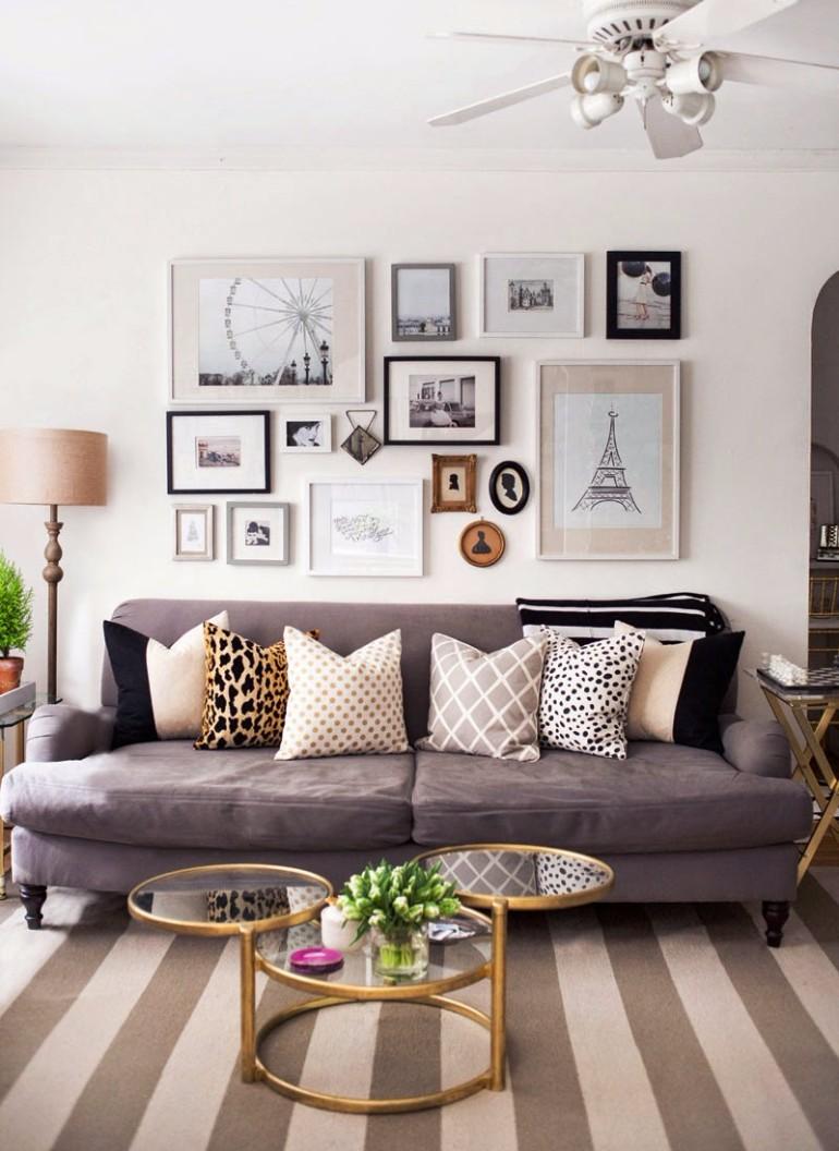 Inspiring Ways To Display Art Living Room At