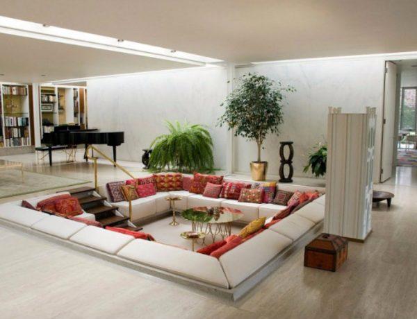Sunken Living Room 10 Brilliant Sunken Living Room Designs capa 9 600x460