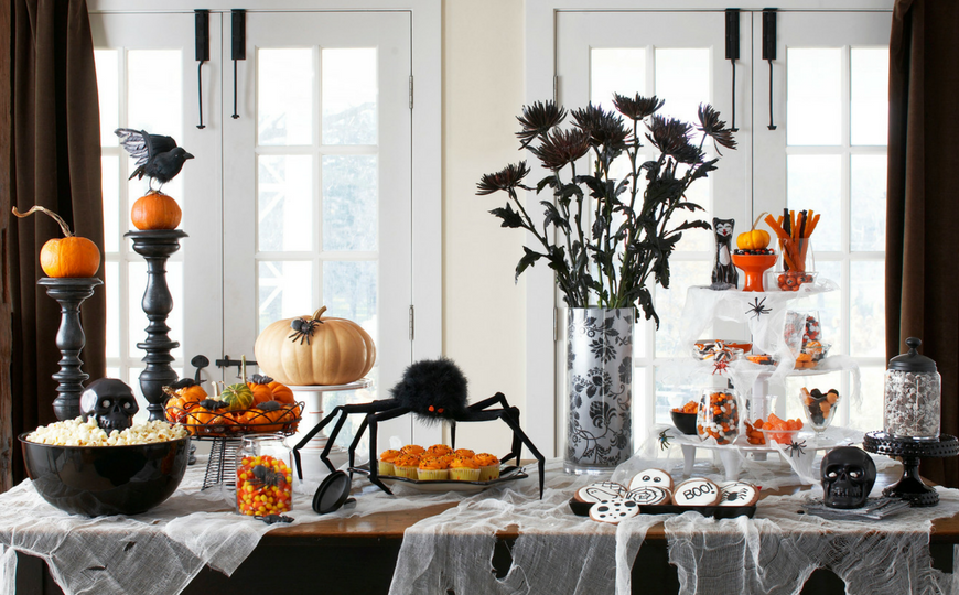 Family Living Room Design Ideas That Will Keep Everyone Happy: Let Halloween Take Over Your Living Room Decor With These