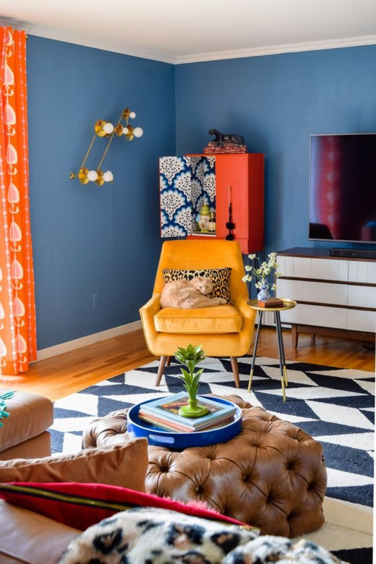 10 Colorful Living Room Ideas To Steal From Pinterest_1