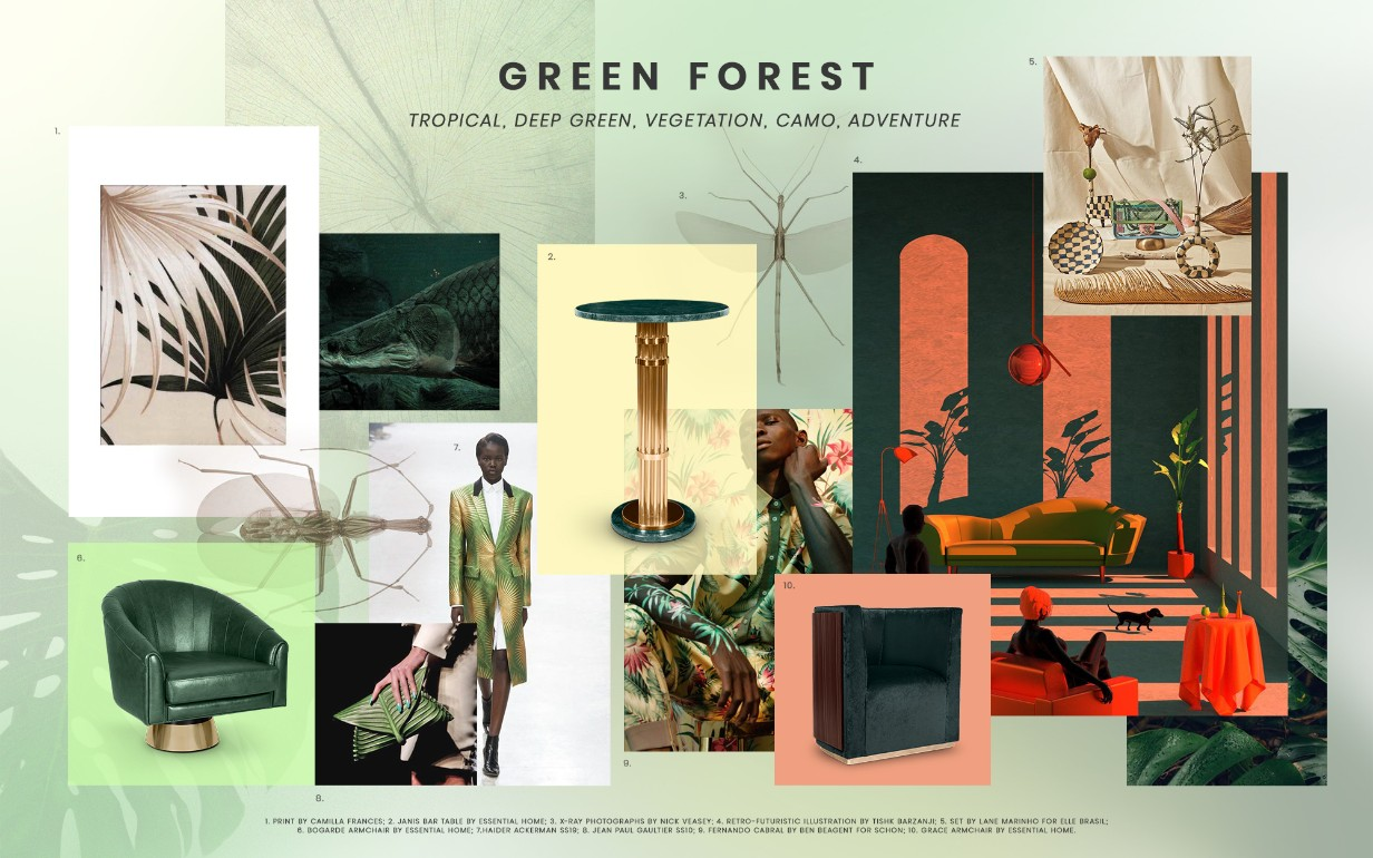 More Home Decor Trends For 2019 You Need To Know About home decor trends More Home Decor Trends For 2019 You Need To Know About green forest design trends 2019 1
