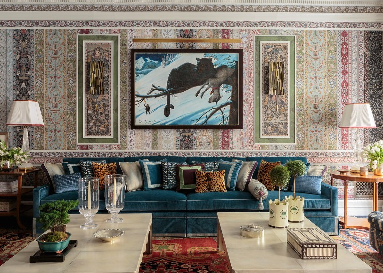 A Maximalist Living Room With All The Right Trends maximalist living room A Maximalist Living Room With All The Right Trends A Maximalist Living Room With All The Right Trends 2