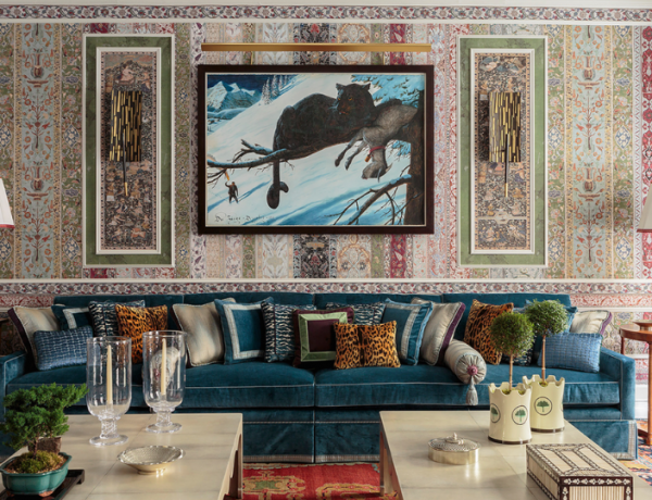 A Maximalist Living Room With All The Right TrendsA Maximalist Living Room With All The Right Trends