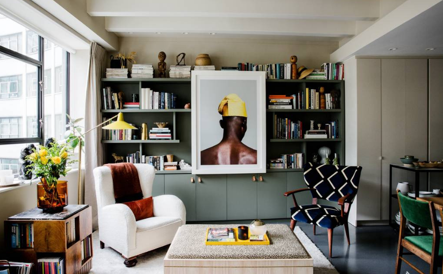A Stunning Mid-Century Modern Living Room In A Flat In West London