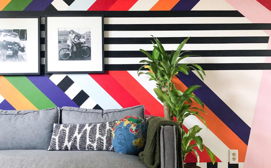 A Washington Modern Home With A Crazy Patterned Living Room