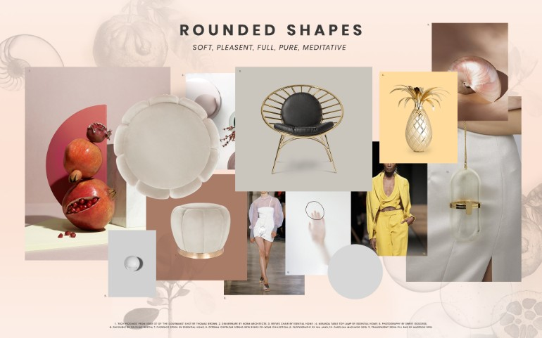 Moodboards Trends: Rounded Shapes In Design