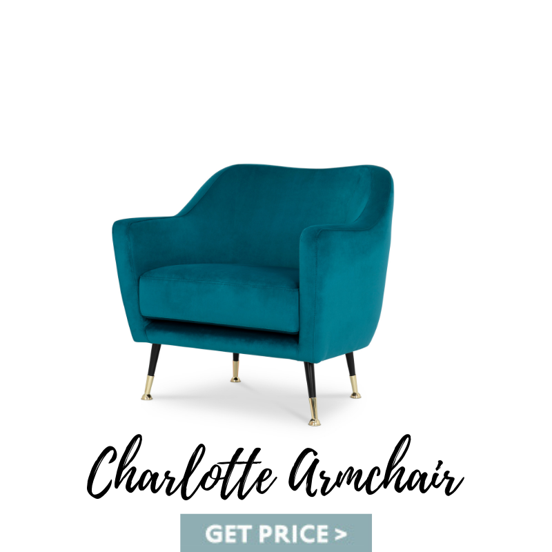 Charlotte Armchair mid-century armchairs Spring Decor: Best Mid-Century Armchairs For A Colorful Living Room Charlotte Armchair