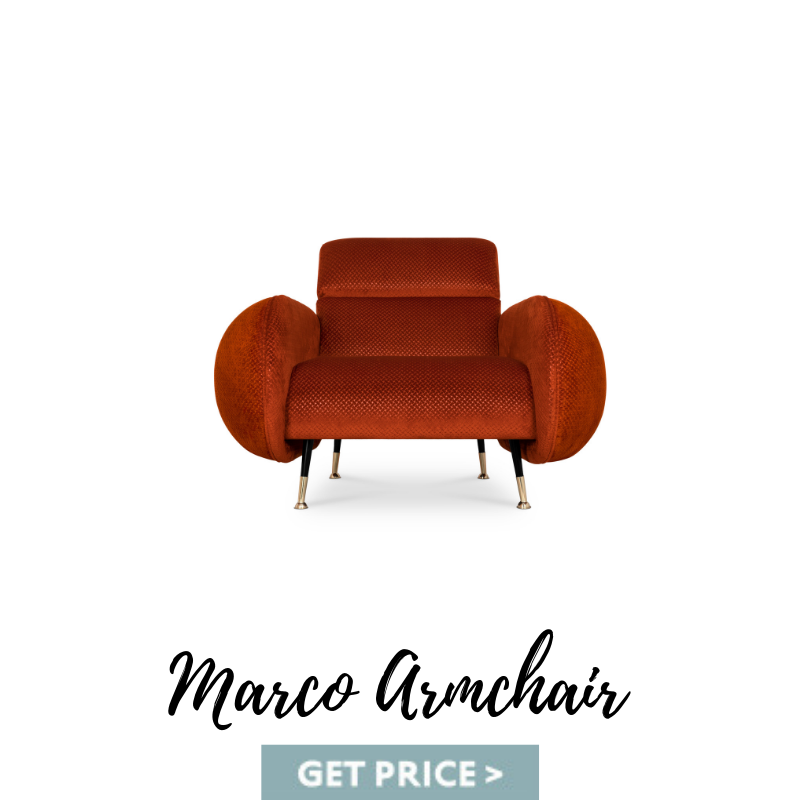 Marco Armchair mid-century armchairs Spring Decor: Best Mid-Century Armchairs For A Colorful Living Room Marco Armchair